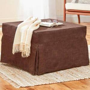 BrylaneHome Oversized Folding Sleeper Ottoman in Brown by BrylaneHome   350lbs Weight Capacity