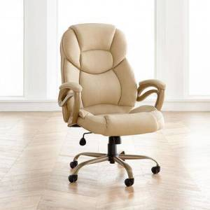 BrylaneHome Big and Tall Memory Foam Office Chair in Tan by BrylaneHome   400lbs Weight Capacity