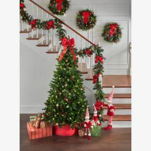 BrylaneHome 7' Pre-Lit Arrow-Tip Color Changing Tree in Green by BrylaneHome