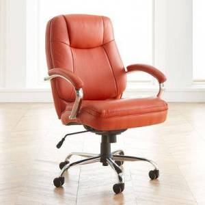 BrylaneHome Oversized Women's Office Chair in Orange by BrylaneHome   500lbs Weight Capacity