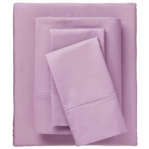 BrylaneHome Bed Tite 800 Thread Count Sheet Set, Size Cal King in Dusty Lilac by BrylaneHome
