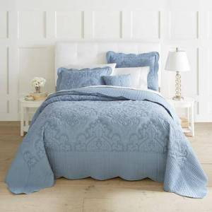 BrylaneHome Amelia Bedspread by BrylaneHome in Ashley Blue (Size KING)