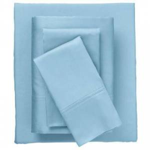 BrylaneHome Bed Tite 300-TC. Cotton Sheet Set by BrylaneHome in Light Blue (Size TWIN)