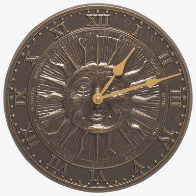 Whitehall Products Sunface Clock by Whitehall Products in French Bronze