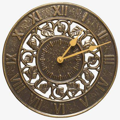 Whitehall Products Ivy Silhouette Clock by Whitehall Products in French Bronze