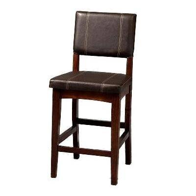 """Linon Home Dcor """"Counter Stool, 17""""""""Wx19 1/2""""""""Dx24""""""""H by Linon Home Dcor in Brown"""""""