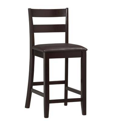 """BrylaneHome """"Counter Stool, 17""""""""Wx19""""""""Dx37""""""""H by BrylaneHome in Espresso"""""""