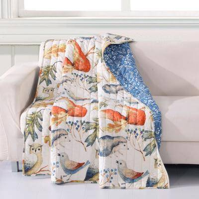 """Greenland Home Fashions """"Barefoot Bungalow Willow Quilted Throw Blanket by Greenland Home Fashions in Multi (Size 50"""""""" X 60"""""""")"""""""