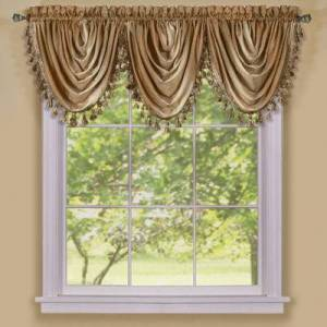 """Achim Home Dcor """"Wide Width Ombre Waterfall Valance by Achim Home Dcor in Sandstone (Size 46"""""""" W 42"""""""" L)"""""""