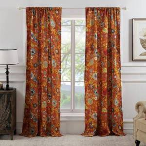 "Greenland Home Fashions ""Astoria Curtain Panel Pair, Size 84"""" W X 95"""" L in Spice by Greenland Home Fashions"""