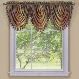"Achim Home Dcor ""Wide Width Ombre Waterfall Valance by Achim Home Dcor in Autumn (Size 46"""" W 42"""" L)"""