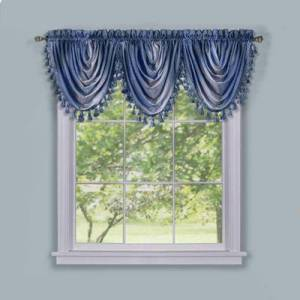 """Achim Home Dcor """"Wide Width Ombre Waterfall Valance by Achim Home Dcor in Blue (Size 46"""""""" W 42"""""""" L)"""""""