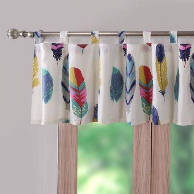 """Greenland Home Fashions """"Wide Width Dream Catcher Teal Window Valance by Greenland Home Fashions in Teal (Size 84"""""""" W 21"""""""" L)"""""""