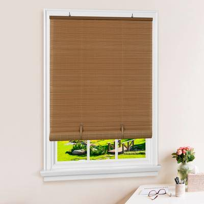 """Achim Home Dcor """"Wide Width Cordless Solstice Vinyl Roll-Up Blind by Achim Home Dcor in Wood Tone (Size 36"""""""" W 72"""""""" L)"""""""