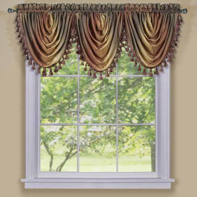"""Achim Home Dcor """"Wide Width Ombre Waterfall Valance by Achim Home Dcor in Autumn (Size 46"""""""" W 42"""""""" L)"""""""