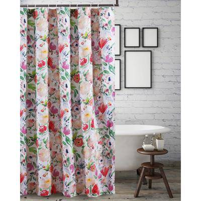 "Barefoot Bungalow ""Wide Width Blossom Shower Curtain by Barefoot Bungalow in Multi (Size 72"""" W 72"""" L)"""