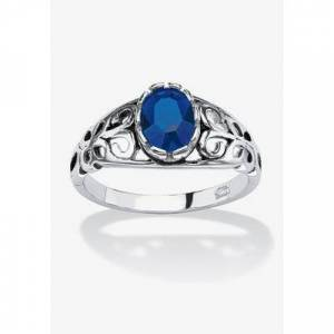 PalmBeach Jewelry Sterling Silver Simulated Birthstone Ring, Size 8 in September by PalmBeach Jewelry