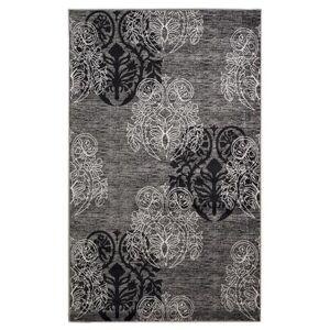 Linon Home Dcor Milan Black/Grey 2'X3' Area Rug by Linon Home Dcor in Black Grey