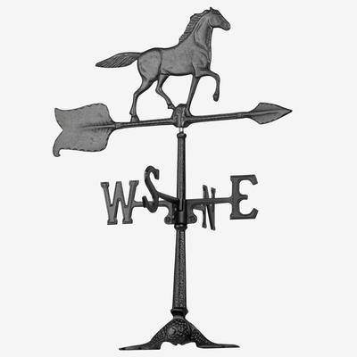 """Whitehall Products """"24"""""""" Horse Accent Weathervane by Whitehall Products in Black"""""""