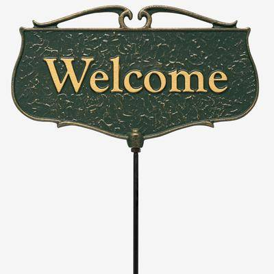 Whitehall Products Welcome Garden Entryway Sign by Whitehall Products in Green