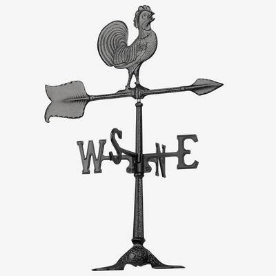 Whitehall Products Rooster Accent Weathervane by Whitehall Products in Black