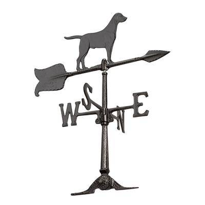 """Whitehall Products """"24"""""""" Retriever Weathervane by Whitehall Products in Black"""""""