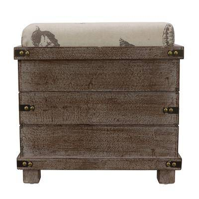Decor Therapy Weathered Ottoman by Decor Therapy in Wood