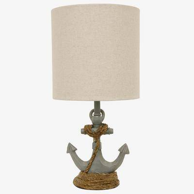 Decor Therapy Anchor's Away Table Lamp by Decor Therapy in Blue