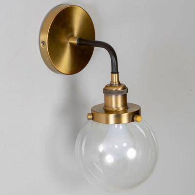 Decor Therapy Samuel Orb Sconce by Decor Therapy in Brass
