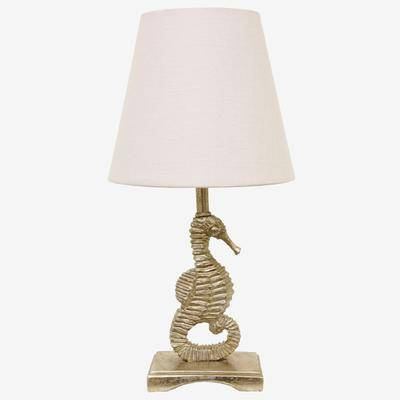 Decor Therapy Sea Horse Accent Lamp by Decor Therapy in Silver