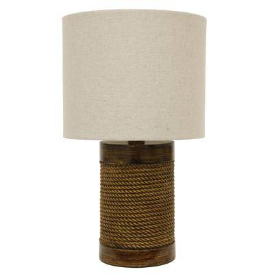 Decor Therapy Rope Wrapped Lamp by Decor Therapy in Rope And Wood