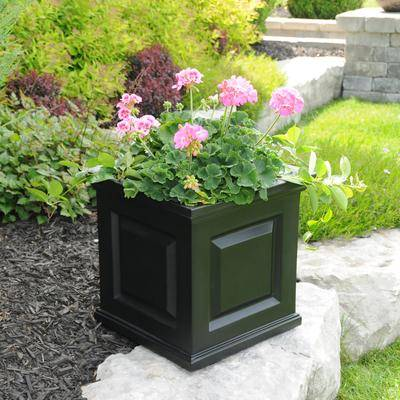"Mayne ""Nantucket 16"""" x 16"""" Planter by Mayne in Black"""