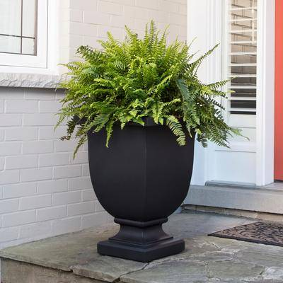 "Mayne ""Augusta 26"""" Tall Planter by Mayne in Black"""