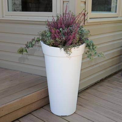 Mayne Creston Tall Planter by Mayne in White