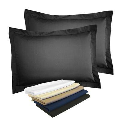 BrylaneHome 2-Pack Tailored 65/35 Poly/Cotton Sham by BrylaneHome in Black (Size STANDARD)