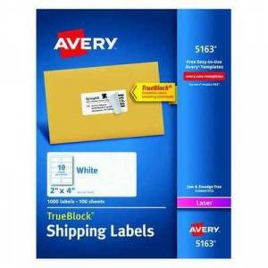 Avery 7278205163 Avery Shipping Labels with TrueBlock Technology for Laser