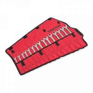 TEKTON WRN03393 Combination Wrench Set, 15-Piece (8-22mm) - Pouch