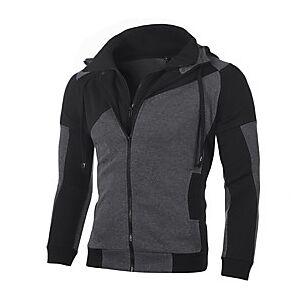 Men's Hoodie Sweatshirt Plain Hooded Daily Casual Hoodies Sweatshirts  Long Sleeve White Red Dark Gray
