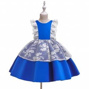PatPat Baby / Toddler Pretty Floral Lace Decor Party Dress