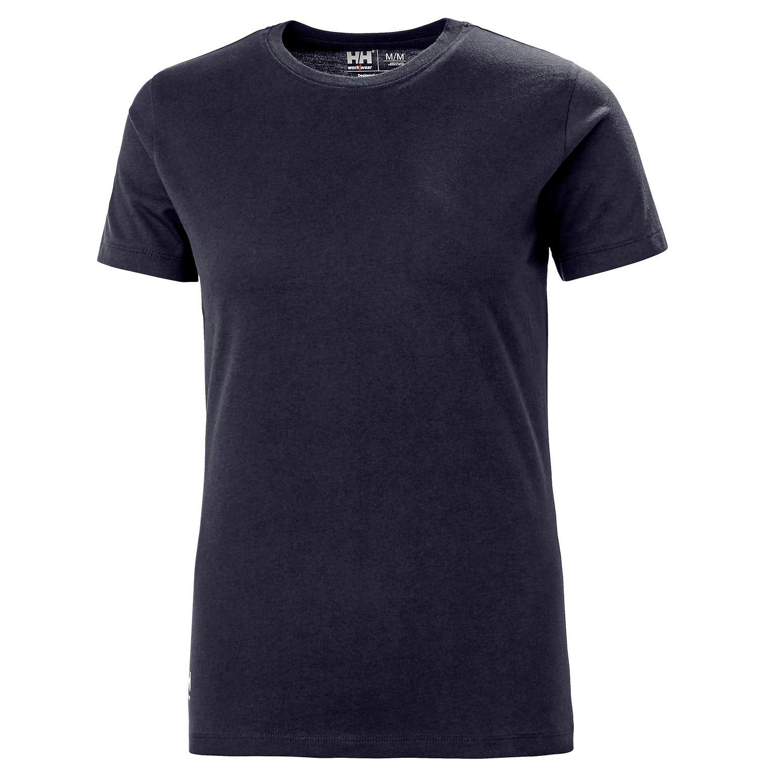 HH Workwear Helly Hansen WorkwearWomen's Manchester Cotton T-Shirt Navy XS