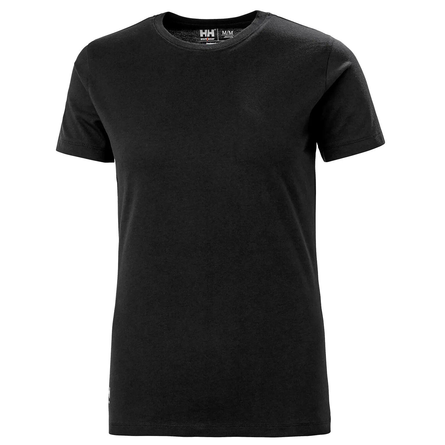 HH Workwear Helly Hansen WorkwearWomen's Manchester Cotton T-Shirt Black XS