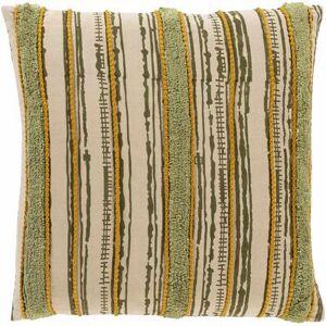 "Hauteloom ""Bebe 18"""" x 18"""" Square Pillow Cover Bohemian/Global 100% Cotton/100% Cotton Olive/Beige/Grass Green/Burnt Orange/Tan/Khaki Pillow Cover - Hauteloom"""
