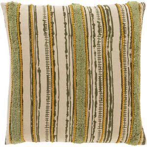 "Hauteloom ""Bebe 20"""" x 20"""" Square Pillow Cover Bohemian/Global 100% Cotton/100% Cotton Olive/Beige/Grass Green/Burnt Orange/Tan/Khaki Pillow Cover - Hauteloom"""