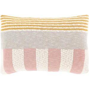 """Hauteloom """"Hulett 16"""""""" x 24"""""""" Lumbar Pillow Cover Modern 100% Cotton/100% Cotton Pale Pink/Saffron/Cream/Medium Gray Pillow Cover - Hauteloom"""""""