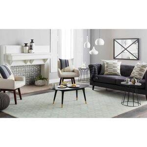 "Hauteloom ""Broome 20"""" x 20"""" Square with Down Insert Modern 100% Cotton/100% Cotton Cream/Charcoal/Beige/Medium Gray Pillow Kit - Hauteloom"""