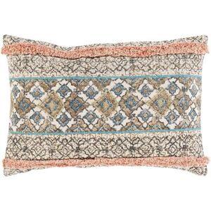 "Hauteloom ""Melvindale 16"""" x 24"""" Lumbar Pillow Cover Bohemian/Global 100% Cotton/100% Cotton Beige/Coral/Camel/Dark Blue/Tan Pillow Cover - Hauteloom"""