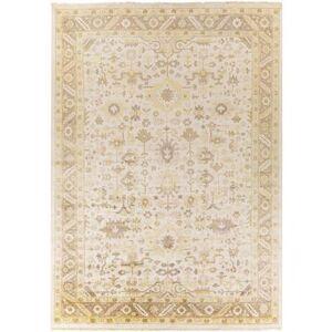 Hauteloom Barberville 8' x 11' Traditional 100% Viscose Khaki/Cream/Camel/Medium Gray Area Rug - Hauteloom