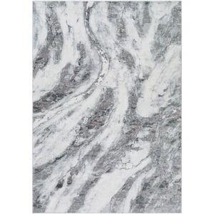 Hauteloom Puckeridge 9' x 12' Rectangle Modern 100% Polyester Cream/Light Gray/Medium Gray/Charcoal/Wheat/Pale Pink Area Rug - Hauteloom