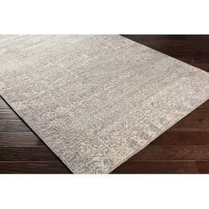 Hauteloom Noosaville 12' x 15' Traditional 80% NZ Wool/20% Viscose Medium Gray/Charcoal/Cream Area Rug - Hauteloom