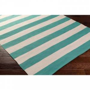 "Hauteloom ""Clio 2'6"""" x 12' Runner Transitional 100% Cotton Emerald/Cream Runner - Hauteloom"""